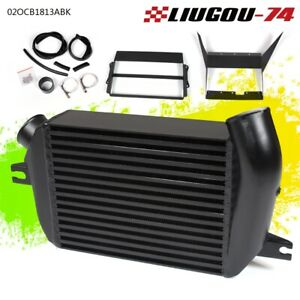 Top Mount Intercooler For Wrx 2008 14 Ej25 Upgrade Bolt On Black New Us Stock