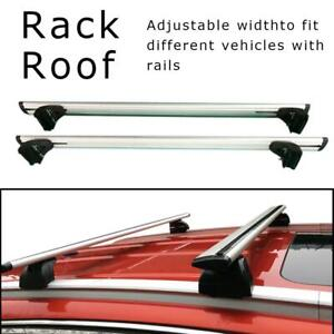 47 2 Universal Roof Rack Cross Bar Rail Luggage Carrier For Suv Truck Aluminum