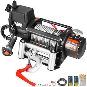 17000lbs Electric Winch 12v Steel Cable Off road Atv Utv Truck Towing Trailer