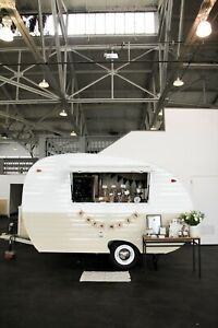 1957 Vintage Camper Trailer Concession Bar Photo Booth Food Truck Events