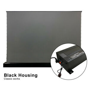 Vividstorm S 120inch Electric Floor Long Throw Alr Projector Screen Obsidian