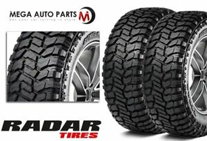 2 Radar Renegade R T Lt285 50r22 121 118q 10 Ply E All Terrain Mud Tire M T A T