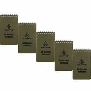 All Weather Edc Pocket Memo Notebook Waterproof Paper Notepad 3 X 5 Pack Of 5