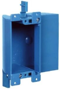 Carlon B117rsw Work Outlet Box 1 Gang Blue