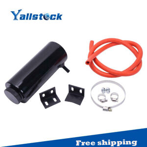 Universal Black Radiator Coolant Aluminum Catch Tank Overflow Reservoir 800ml