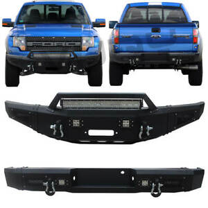 Front And Rear Bumper Fits 2010 2014 Ford F150 Raptor Svt With Winch Seat steel