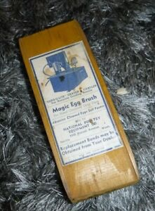 Vtg 1937 Pat Magic Egg Brush National Poultry Equip Co Seattle Wash Advertising