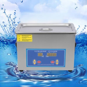 Stainless Steel Industrial Ultrasonic Cleaner 4l Heating Timer Timer Commercial