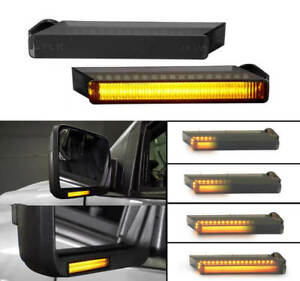 Smoked Sequential For Ford F 150 Led Under Side Mirror Turn Signal Lights New