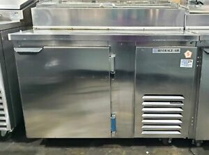 Beverage Air Dp46 cl 46 Stainless Steel Pizza Prep Table W Refrigerated Base