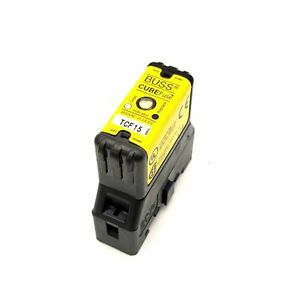 Bussmann Tcf15 Cube Fuse Dual Element Time delay Current Limiting Fuse With Base