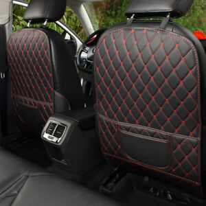 Car Seat Back Anti Kick Pad Mat Pu Leather Protector Cover Universal Accessories