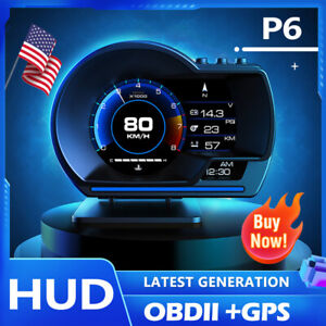 Universal Car Head Up Display Hud Digital Truck Speedometer Speed Navigation Obd