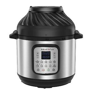 Instant Pot 8qt Duo Crisp Combo Electric Pressure Cooker Air Fryer Stainless S