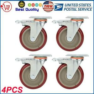 4 Pack Set Universal Chair Caster Wheels 5 Replacement Chair Caster Dustproof