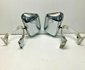 Vintage Chrome Truck Suv Van Rv Towing Side Mirrors Lh Rh 2511
