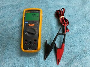 Fluke 1507 Insulation Tester Meter With Lead Wires And Clips