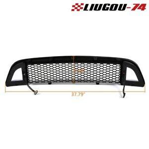 For 2013 2014 Ford Mustang Honeycomb Style Front Upper Bumper Led Grille Black U