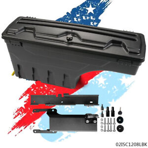 Black Rear Left Side Truck Bed Storage Box Toolbox For 2015 2019 Ford F150 New
