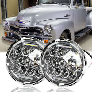 7inch Led Headlights Halo Projector For Chevrolet Truck 1954 1957 3100 1956 1959