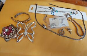 Estate Mixed Lot Of Sterling Silver 925 Non Silver Jewelry S63
