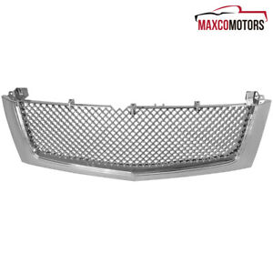 Fit 2002 2006 Cadillac Escalade Polished Abs Mesh Style Front Bumper Hood Grille