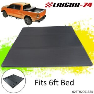 Hard Tri Fold Tonneau Cover Fit For 05 15 Toyota Tacoma Standard Short 6ft Bed W