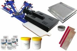 Updated 3 Color 1 Station Silk Screen Printing Press Kit With Flash Dryer Diy