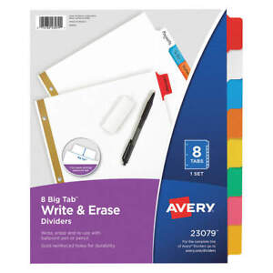 Avery 7278223079 Binder Divider write on Tabs multicolor