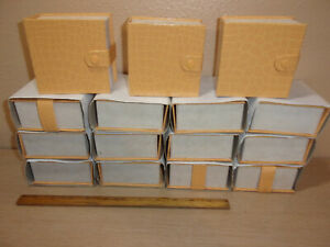 Lot Of 15 Yellow Snap Closeure Square Earring Boxes