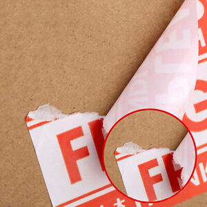 For Shipping Heavy Duty Handle With Care Roll Fragile Stickers Sign Labels Safe