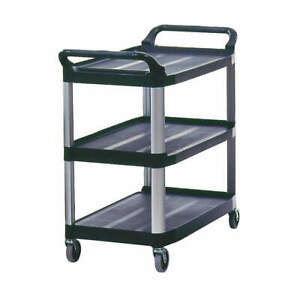 Rubbermaid Commercial Products Fg409100bla Utility Cart 300 Lb Load Cap Pe