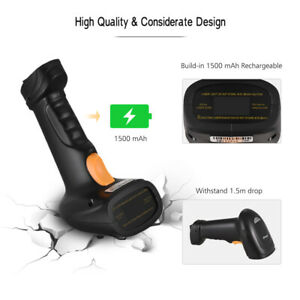 2 in 1 Wireless Barcode Scanner Gun Handheld Reader Usb Cable 100 Times sec M3m2