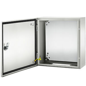 Vevor 16x16x6 Carbon Steel Electrical Enclosure Wall Mount Junction Box Ip65