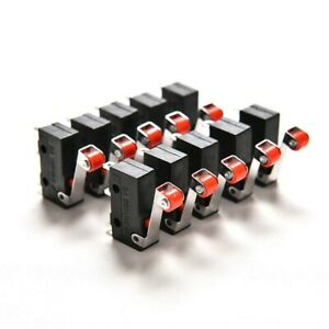 Switches Micro Roller 10pcs Pcb 20 10 6mm Set Terminals Ac New Durable