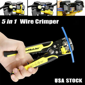 Automatic Wire Stripper Cutter Crimper Adjustable Cable Stripping Pliers Tool