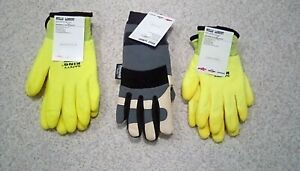 Lot Of 3 Pair Work Gloves 2 Pr Safety King And 1 Pr Wells Lamont
