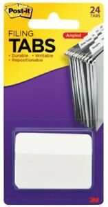 Post it Tabs 2 In Angled Solid White 24 Tabs pack 686a 24we