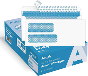 500 9 Double Window Self Seal Security Envelopes For Invoices Statements Do