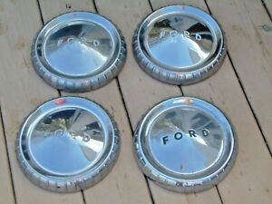 4 Vintage Ford Hub Caps Dog Dish 1960 s Car Truck 9 1 2 Inch 49 95 Free Ship