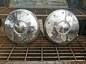 Vintage 1962 Ford Dog Dish Hubcaps 10 5 Inches Fairlane Galaxie