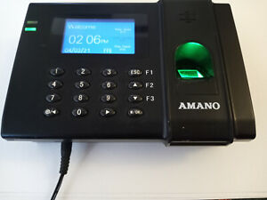 Amano Fpt 80 Time Guardian Biometric Clock System Fingerprint Data Collection