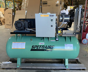Speedaire 40hu66 3 phase 5 Hp Rotary Screw Air Compressor With 80 Gal Tank Size