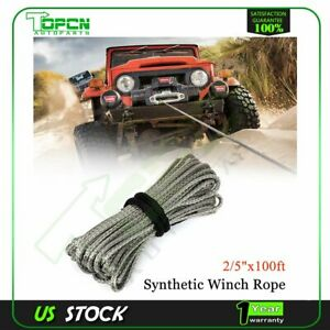 23000lb Synthetic Winch Tow Rope Line Recovery Cable Off Road 2 5 X 100ft