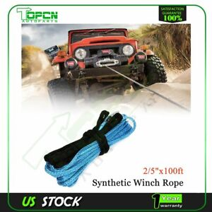 23000lb Synthetic Winch Tow Rope Line Recovery Cable Off Road Wire 2 5 X 100ft
