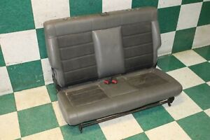 07 18 Jk stained 2 Door Gray Cloth Backseat Light Dark Back Rear Seat Bench