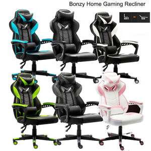High Back Racing Gaming Chair Swivel Office Desk Chair Pu Leather Living Room