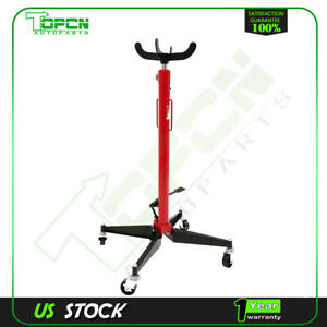 1100 Lb High Lift Transmission Jack Stand Foot Operated Pump Spring Loaded Jack