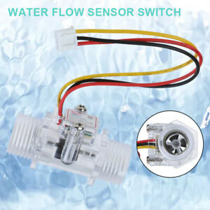 Transparent Water Flow Sensor Switch G1 2 Hall Effect Meter Control Dc 5 15rc
