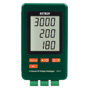 Extech Sd910 Dc Voltage Logger 4 Gb 3 Channel